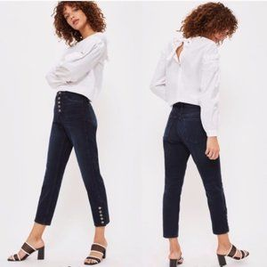 Topshop Mom Button Fly High Waisted Black Jeans